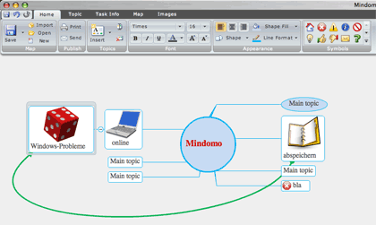 Mindomo-Mindmap-Online-Tool: Screenshot
