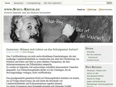 Vorschau: Screenshot von schul-kritik.de