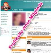 Beispiel: Profilseite eines registrierten Mitglieds bei spickmich.de