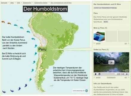 StepMap: Karte zum Humboldtstrom und El Nino