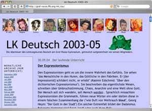 Vorschau: Weblog zum Leistungskurs Deutsch 2003-2005
