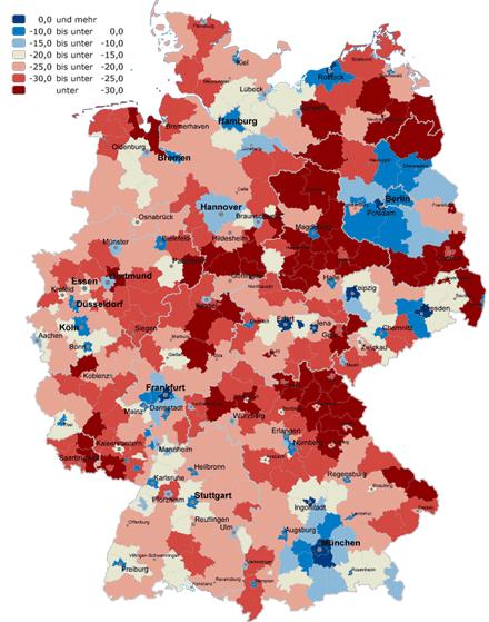 Entwicklung der Schülerzahlen in der BRD 2006 bis 2025, Vorschaubild