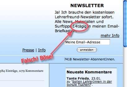 schreibweise 14taegig - alte (falsche) lehrerfreund-version