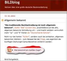 Vorschau BILDblog - Rechtschreibfehler in der Bild