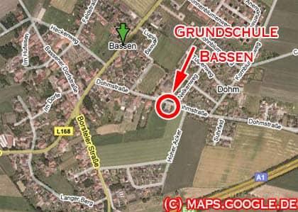 Karte von Bassen / Oyten in Niedersachsen