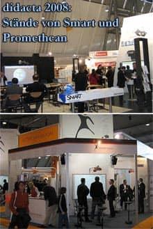 Vorschaubild: Stände von Smart Technologies und Promethean auf der didacta 2008