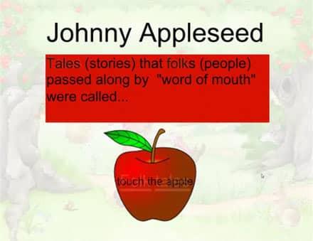SMARTBoard-Einheit 'Appleseed', Screenshot 2: Apfelspiel
