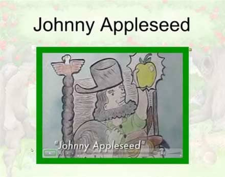 SMARTBoard-Einheit 'Appleseed', Screenshot 4: Johnny Appleseed