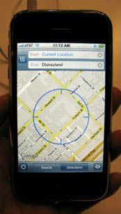 iPhone mit GPS-Applikation