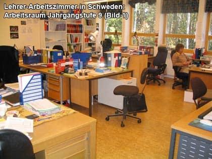 Arbeitsraum einer 9. Klasse in Schweden