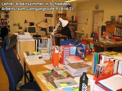 Arbeitsraum einer 9. Klasse in Schweden, Bild 2