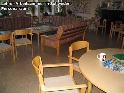 Personalraum einer Schule in Schweden