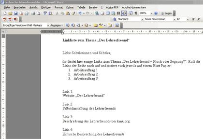 Neues Dokument anlegen und speichern