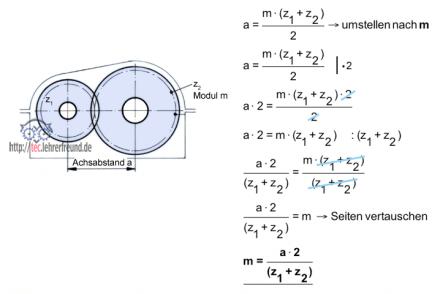 Getriebe Berechnen Formeln : technische mathematik formeln umstellen 1 tec lehrerfreund ~ Themetempest.com Abrechnung
