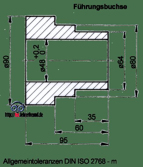 technisches zeichnen toleranzen bestimmen tec lehrerfreund. Black Bedroom Furniture Sets. Home Design Ideas