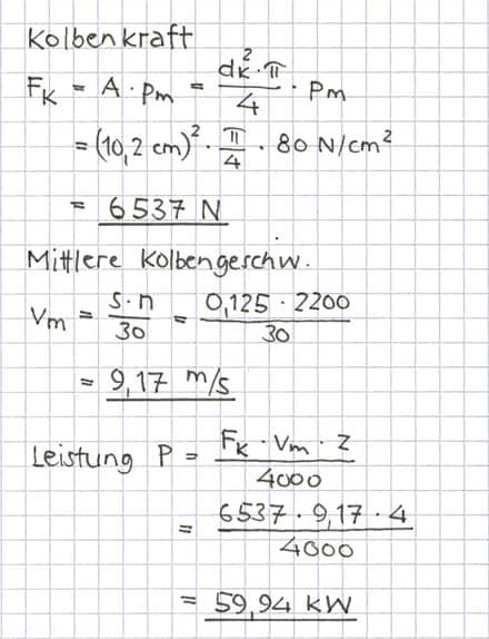 Mittlere Leistung Berechnen : verbrennungsmotor 1 motorleistung tec lehrerfreund ~ Themetempest.com Abrechnung