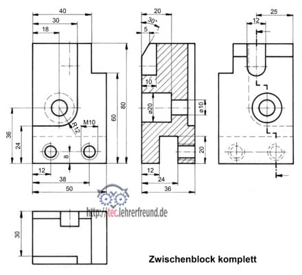 projektionszeichnen 3 tec lehrerfreund. Black Bedroom Furniture Sets. Home Design Ideas