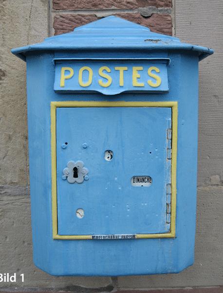 Franzoesischer Briefkasten, Foto