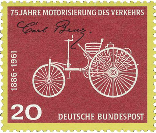 Briefmarke 1961–75 Jahre Motorisierung des Verkehrs