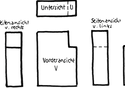 parallelprojektion nach din iso 128 30 tec lehrerfreund. Black Bedroom Furniture Sets. Home Design Ideas