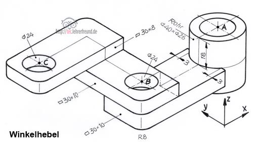 freihandzeichnen 5 prismatische bauteile tec lehrerfreund. Black Bedroom Furniture Sets. Home Design Ideas