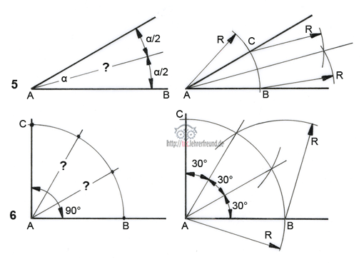 Geometrische Grundkonstruktionen (1) • tec.Lehrerfreund