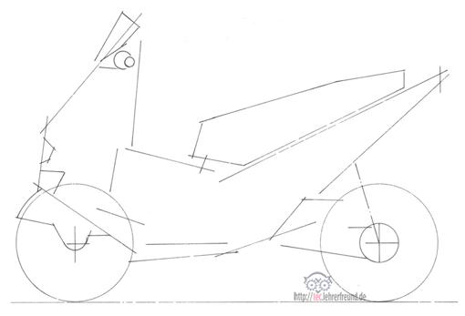 einen motorroller zeichnen ist kein hexenwerk tec. Black Bedroom Furniture Sets. Home Design Ideas