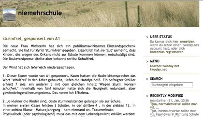screenshot: niemehrschule