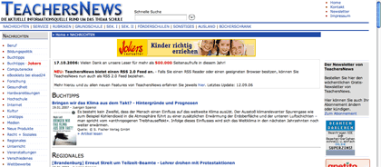 screenshot: teachersnews.de