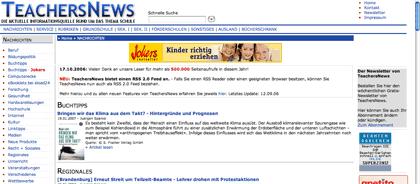 screenshot: teachersnews.de