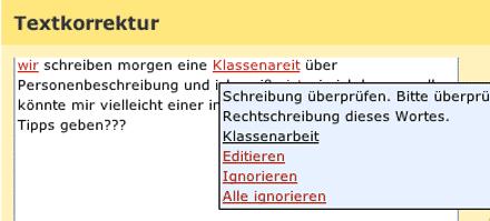 Online-Korrektur von Rechtschreibfehlern mit der Online-Textprüfung von Duden